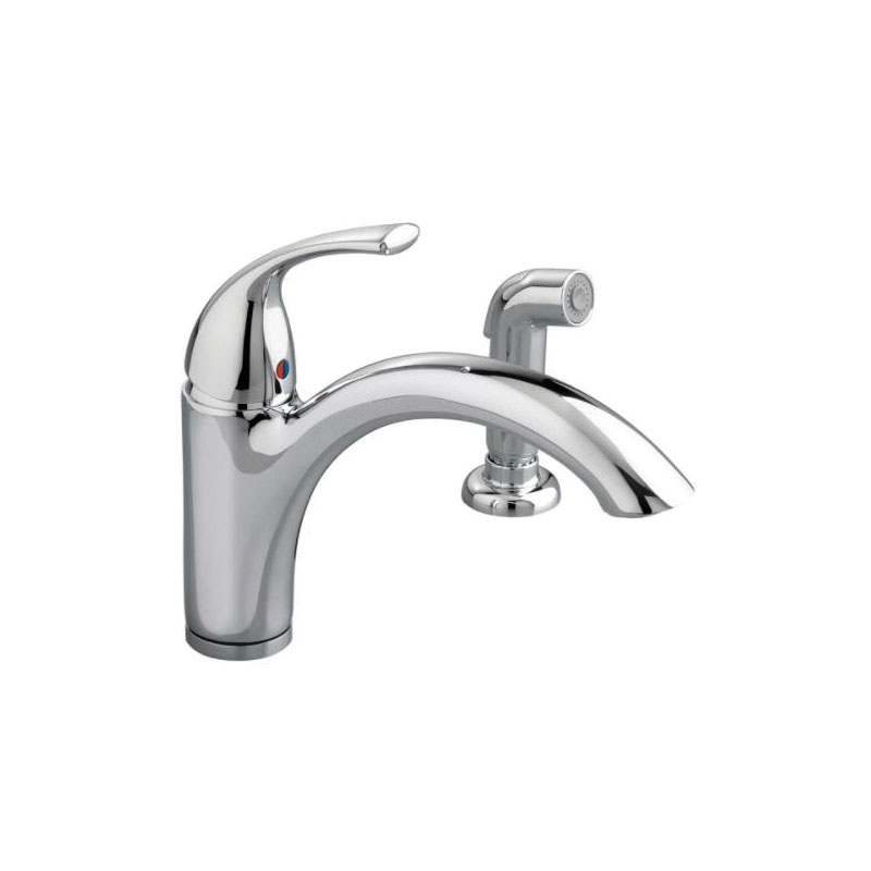 American Standard 4433001.002 Quince™ Kitchen Faucet With Escutcheon Plate,  2.2 Gpm, Polished Chrome