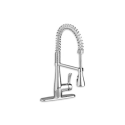 American Standard 4433350F15.002 Quince™ Single Control Semi-Pro Kitchen Faucet, 1.5 gpm, 1 Faucet Hole, Polished Chrome, 1 Handle, Import