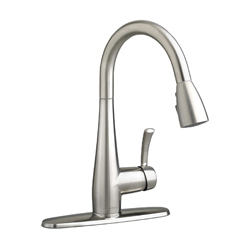 American Standard 4433.300.075 Quince™ Kitchen Faucet, 2.2 gpm, 1 Faucet Hole, 1 Handle, Stainless Steel, Import