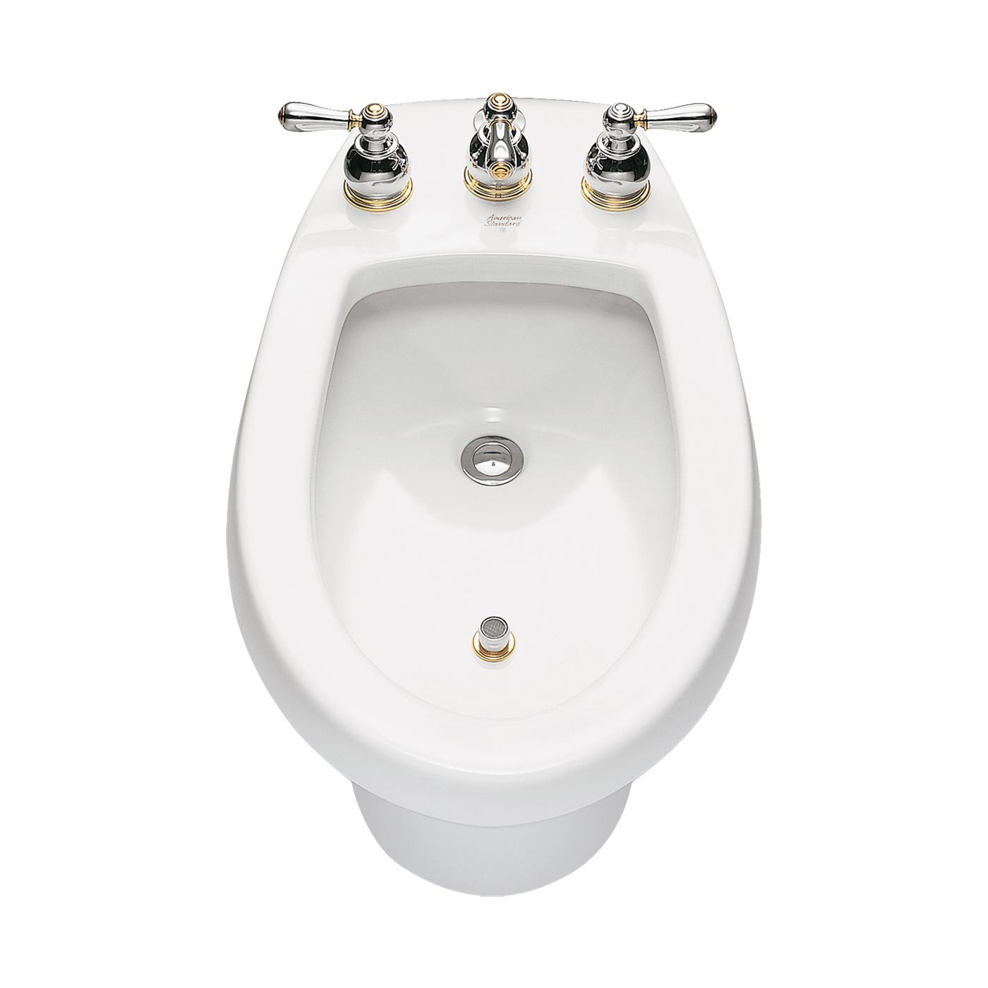 American Standard 5023.100.020 Cadet® Bidet Toilet With (2) Bolt Caps, Elongated Bowl, 14-7/8 in H Rim, White, Import