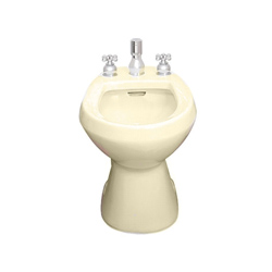 American Standard 5023.100.021 Cadet® Bidet Toilet With (2) Bolt Caps, Elongated Bowl, 14-7/8 in H Rim, Bone, Import