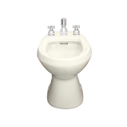 American Standard 5023.100.222 Cadet® Bidet Toilet With (2) Bolt Caps, Elongated Bowl, 14-7/8 in H Rim, Linen, Import