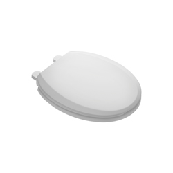 American Standard 5259B65C.020 Easy Lift and Clean Toilet Seat With Quik Nut, Round Bowl, Closed Front, Plastic, Slow Close Hinge, White, Import