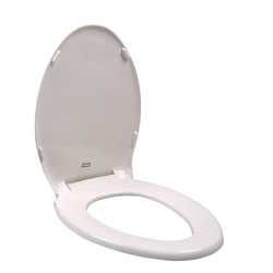 American Standard 5330.010.020 Champion® Toilet Seat With Cover, Round Bowl, Closed Front, Plastic, White, Domestic