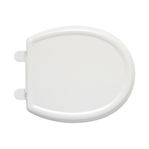 American Standard 5345110.020 Cadet® 3 Toilet Seat With Cover, Round Bowl, Closed Front, Plastic, Slow Close Hinge, White, Import