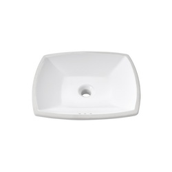 American Standard 0545.000.020 Edgemere® Lavatory Sink With Front Overflow, Rectangular, 18-1/2 in W x 16-1/8 in D x 5-1/4 in H, Undercounter Mount, Vitreous China, White, Import