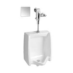 American Standard 6063013.002 Selectronic® Exposed Urinal Flush Valve, CR-P2 Lithium Battery, 0.125 gpf, 3/4 in Inlet, 3/4 in Spud, 20 to 80 psi, Polished Chrome, Import