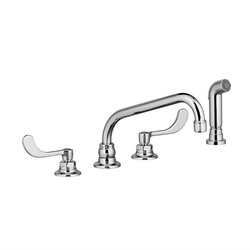 American Standard 6404171.002 Monterrey® Kitchen Faucet, 1.5 gpm, 8 in Center, 2 Handles, Polished Chrome, Commercial, Import