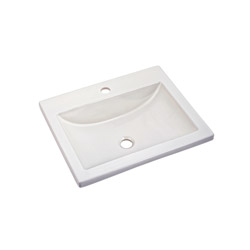 American Standard 0643.001.020 Studio™ Barrier-Free Self-Rimming Bathroom Sink, Rectangular, 21-1/4 in W x 17-3/4 in D x 6-1/2 in H, Countertop/Drop-In Mount, Vitreous China, White, Import