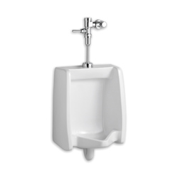 American Standard 6501.511.020 Washbrook™ Washout Urinal, Elongated, 0.125/1 gpf, Top Spud, Wall Mount, White, Domestic