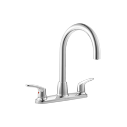 American Standard 7074550.002 Colony® Pro™ Kitchen Sink Faucet, 1.5 gpm, 8 in Center, 2 Handles, Polished Chrome, Import