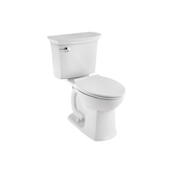 American Standard ActiClean™ HET 714AA154.020 VorMax™ 2-Piece Complete Toilet, Right Height® Elongated Bowl, 16-1/2 in H Rim, 1.28 gpf, White, Import