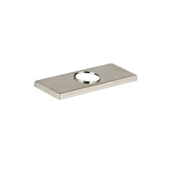 American Standard 7184101P.295 Escutcheon Plate Only, For Use With TIMES SQUARE™ Model 7184.101 Single Control Bathroom Sink Faucet, Satin Nickel, Import