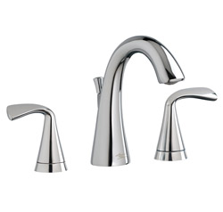 American Standard 7186.801.002 Fluent® Widespread Lavatory Faucet, 1.2 gpm, 4-1/4 in H Spout, 8 in Center, Polished Chrome, 2 Handles, Pop-Up Drain, Import