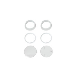 American Standard 7301540-200.0200A Bolt Cap Cover Repair Kit, For Use With Concealed Trapway Bowl Toilet, White, Import