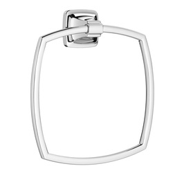American Standard 7353190.002 Townsend® Bath Towel Ring, 6-7/8 in Dia Ring, 1-3/4 in OAD x 8-1/8 in OAH, Metal, Import