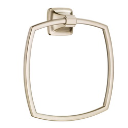 American Standard 7353190.295 Townsend® Bath Towel Ring, 6-7/8 in Dia Ring, 1-3/4 in OAD x 8-1/8 in OAH, Metal, Import