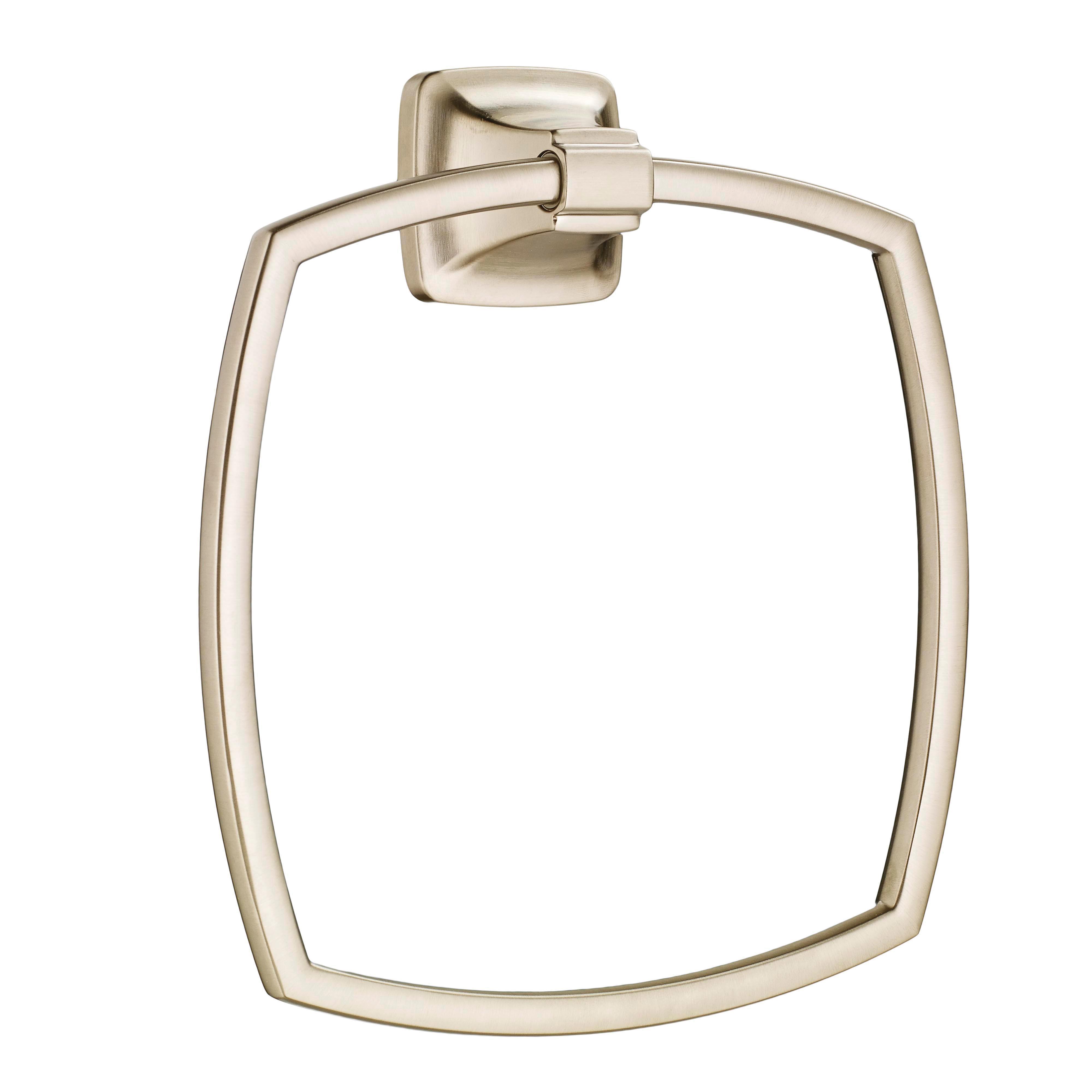 American Standard 7353190.295 Townsend® Bath Towel Ring, 6-7/8 in Dia Ring, 1-3/4 in OAD x 8-1/8 in OAH, Metal, Import