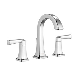 American Standard 7353.801.002 Townsend® Widespread Lavatory Faucet, 1.2 gpm, 5-3/8 in H Spout, 8 in Center, Polished Chrome, 2 Handles, Speed Connect® Pop-Up Drain, Import