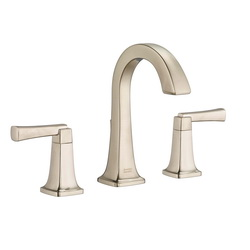 American Standard 7353.801.295 Townsend® Widespread Lavatory Faucet, 1.2 gpm, 5-3/8 in H Spout, 8 in Center, Satin Nickel, 2 Handles, Speed Connect® Pop-Up Drain, Import