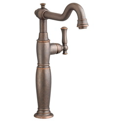 American Standard 7440.152.224 Quentin™ Monoblock Single Control Vessel Bathroom Faucet, 1.2 gpm, 11-9/16 in H Spout, 1 Handle, Grid Drain, Oil Rubbed Bronze, Import