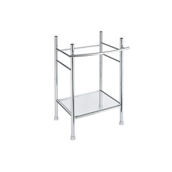 American Standard 8719000.002 Edgemere® Console Table Leg, 21-1/2 in W x 34-1/16 in H Leg, Polished Chrome, Import