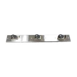 FIAT® 889CC000 Mop Hanger Bracket, For Use With 36 x 24 x 10 in MSB-3624 Molded-Stone Mop Service Basin With Shelf and 24 x 24 x 10 in MSB-2424 Molded-Stone Mop Services Basin Less Shelf, Wall Mount, Stainless Steel