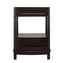 American Standard 9210.224.322 Portsmouth® Washstand, Rectangular, 30 in W x 21-1/2 in D x 33-1/2 in H, Freestanding Mount, Fireclay, Dark Chocolate, Import