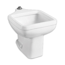 American Standard 9504999.020 Clinic Service Sink, 20 in W x 29-1/4 in D x 18 in H, Floor Mount, Vitreous China, White, Import