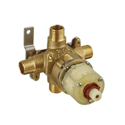 American Standard R111 Pressure Balance Rough-In Valve Body, 1/2 in C/NPT Inlet x 1/2 in C/NPT Outlet, Brass Body, Import