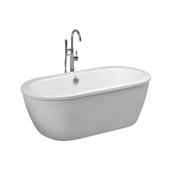 American Standard 2764014.011 Cadet® Bathtub, Soaking Hydrotherapy, Oval, 64-5/8 in L x 30-5/8 in W, Center Drain, Arctic™ White, Import