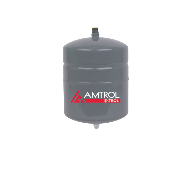 Amtrol® EXTROL® EX-15 In-Line Hydronic Expansion Tank With 1/2 in MNPT System Connection, 2 gal, 8 in Dia x 13 in H, Domestic