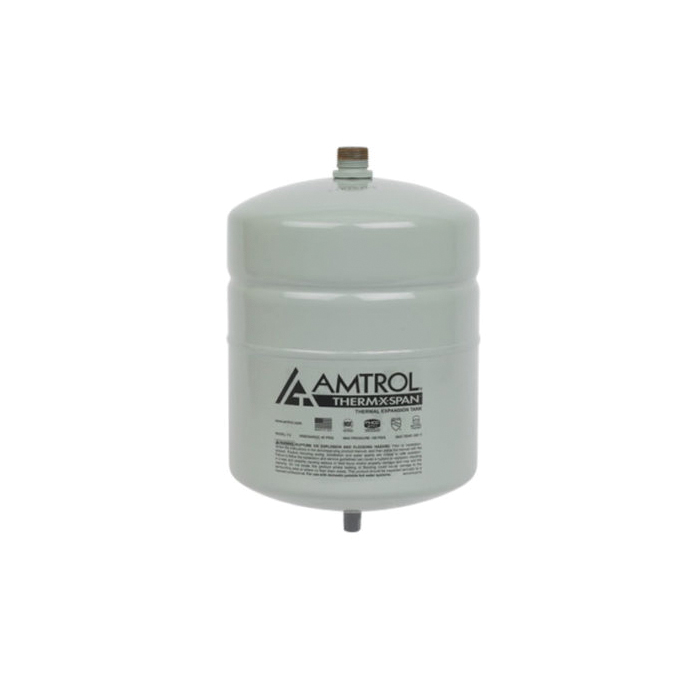 Amtrol® Therm-X-Span® T-12 T Series In-Line Thermal Expansion Tank, 4.4 gal Tank, 3.2 gal Acceptance, 150 psig, ASME Yes/No: No, 11 in Dia x 15 in H