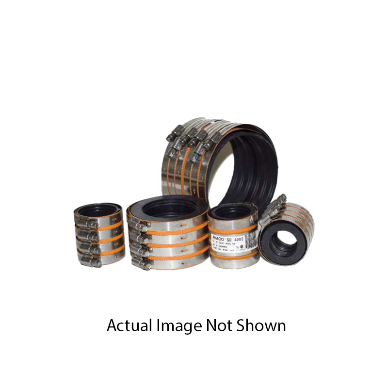 Anaco-Husky Husky® SD 4000 Pipe Coupling Without Hub, 4 in, 304 Stainless Steel, Domestic