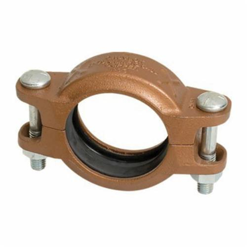 Gruvlok® 0880006085 FIG 6400 Rigid Pipe Coupling With EPDM Gasket, 4 in, Grooved, Ductile Iron, Rust Inhibiting Paint, Import