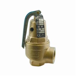 Apollo™ 1060405 10-600 Safety Relief Valve, 3/4 in, FNPT, 30 psig Set, Bronze Body, Domestic