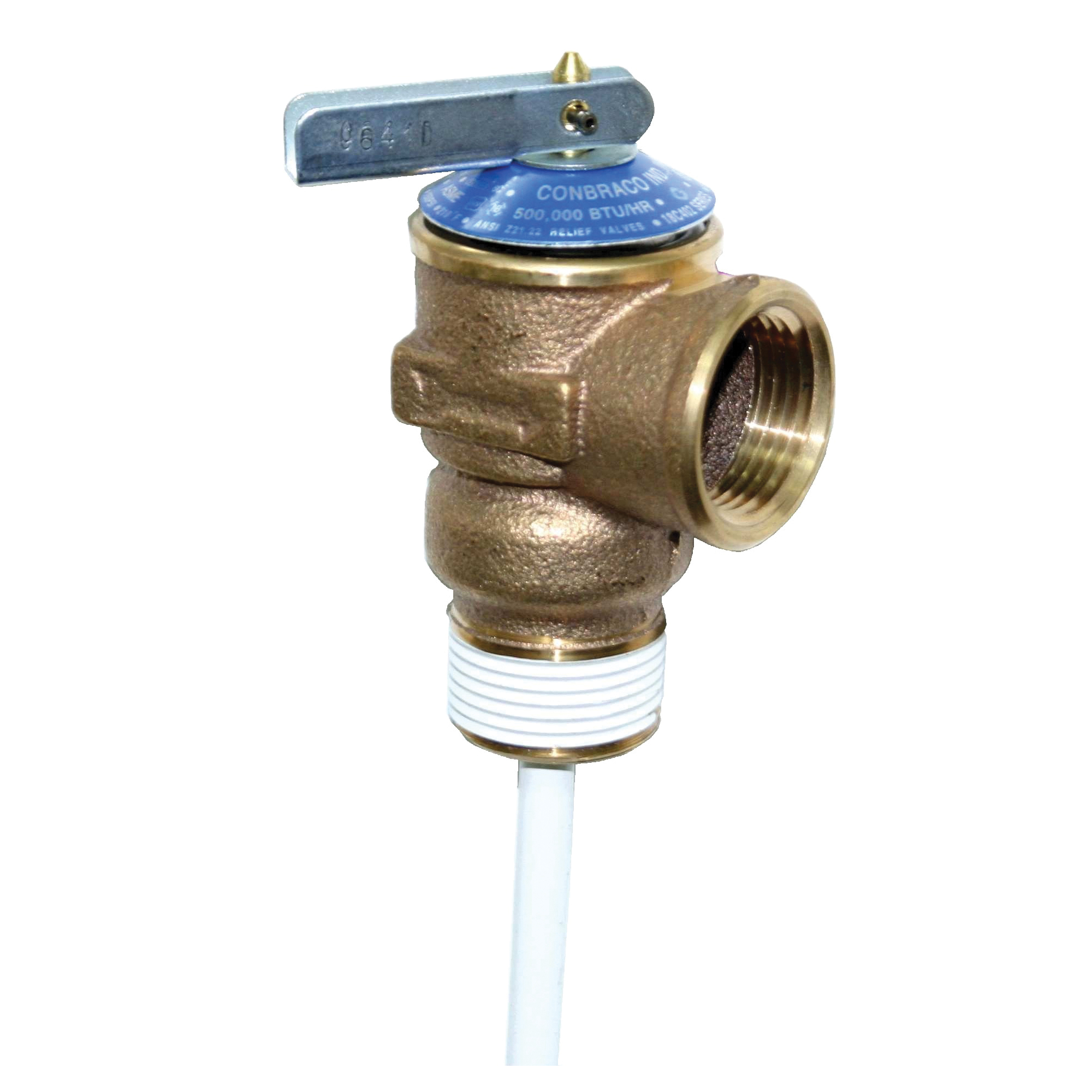 Apollo™ 18C-402-30 18C400 Temperature and Pressure Relief Valve, 3/4 in, NPT, 150 psi, Bronze Body