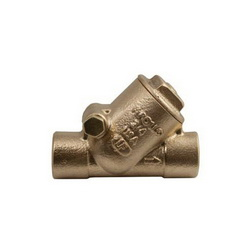 Apollo™ 61YLF09401 161S-LF Y-Pattern Swing Check Valve, 3/4 in, Solder, 125 lb, 12 gpm, Bronze Body, Low Lead Compliance: Yes, Domestic
