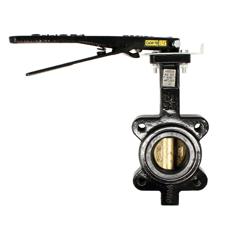 Apollo™ Apollo International™ LD14125BE11A Lug Style Resilient Seated Butterfly Valve, 2-1/2 in, Ductile Iron Body, Buna-N/Glass Reinforced Epoxy Resin Softgoods