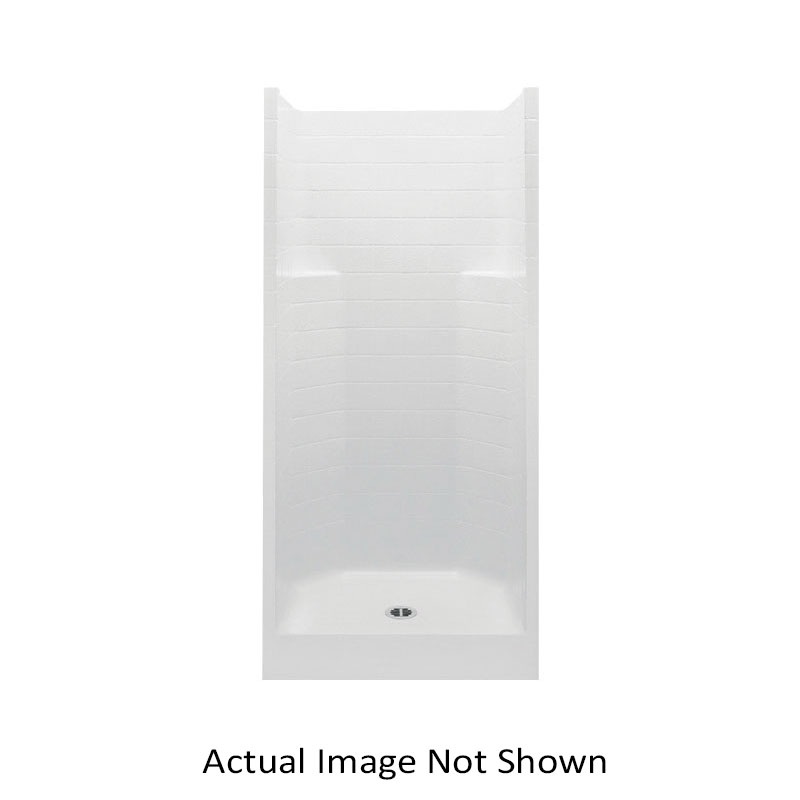 Aquatic 727149737511 1363CTC-WH Everyday 1-Piece Shower Stall Without Seat, 36 in L x 36 in W x 76 in H, Gel-Coated/White