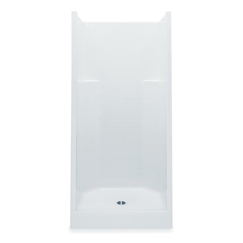 Aquatic 1423CTC-WH Everyday 1-Piece Shower Stall, 42 in W x 76 in H, Gel-Coated/White, Domestic