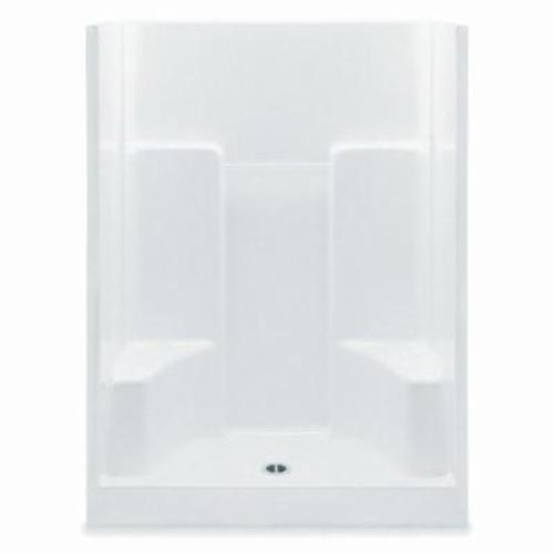 Aquatic 1603SG 1-Piece Wall Shower, 60 in L x 35 in W x 72 in H, Gel-Coated/White, Domestic