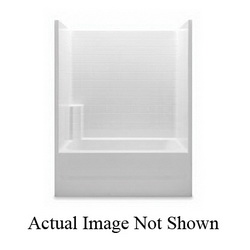 Aquatic 2603CTML-WH Everyday Tub Shower, 60 in W x 76 in H, Gel-Coated/White, Domestic