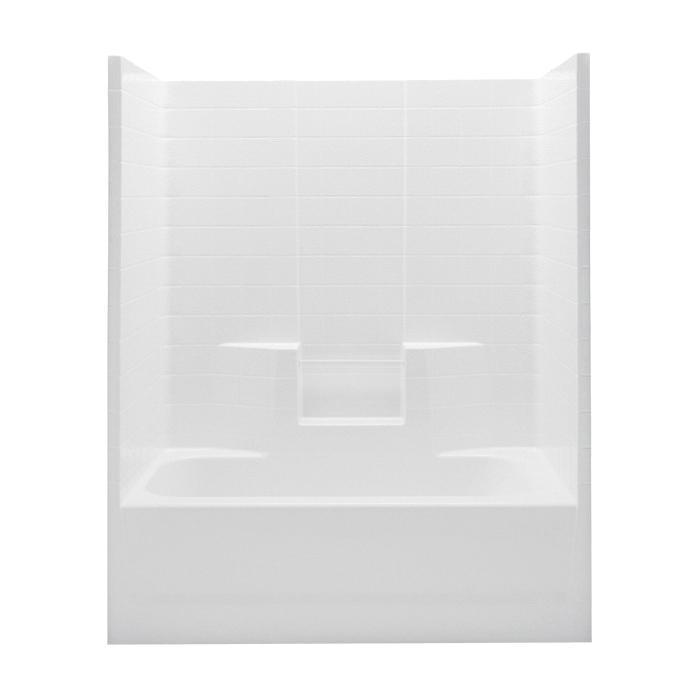 Aquatic 2603CTW-RH-White Shower Tub, Everyday, 60 in W x 72 in H, Acrylx™ Applied Acrylic, White