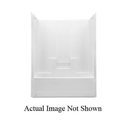 Aquatic 2603DTML-WH Everyday Tub Shower, 60 in W x 79-1/2 in H, Gel-Coated/White, Domestic