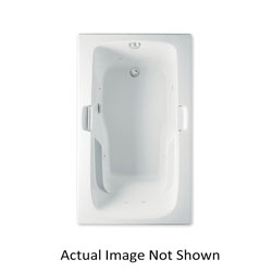 Aquatic 826541939889 Montrose I 4160621-WH Builders' Choice Bathtub Without Seat, Whirlpool, Rectangular, 60 in L x 36 in W, Universal Drain, White