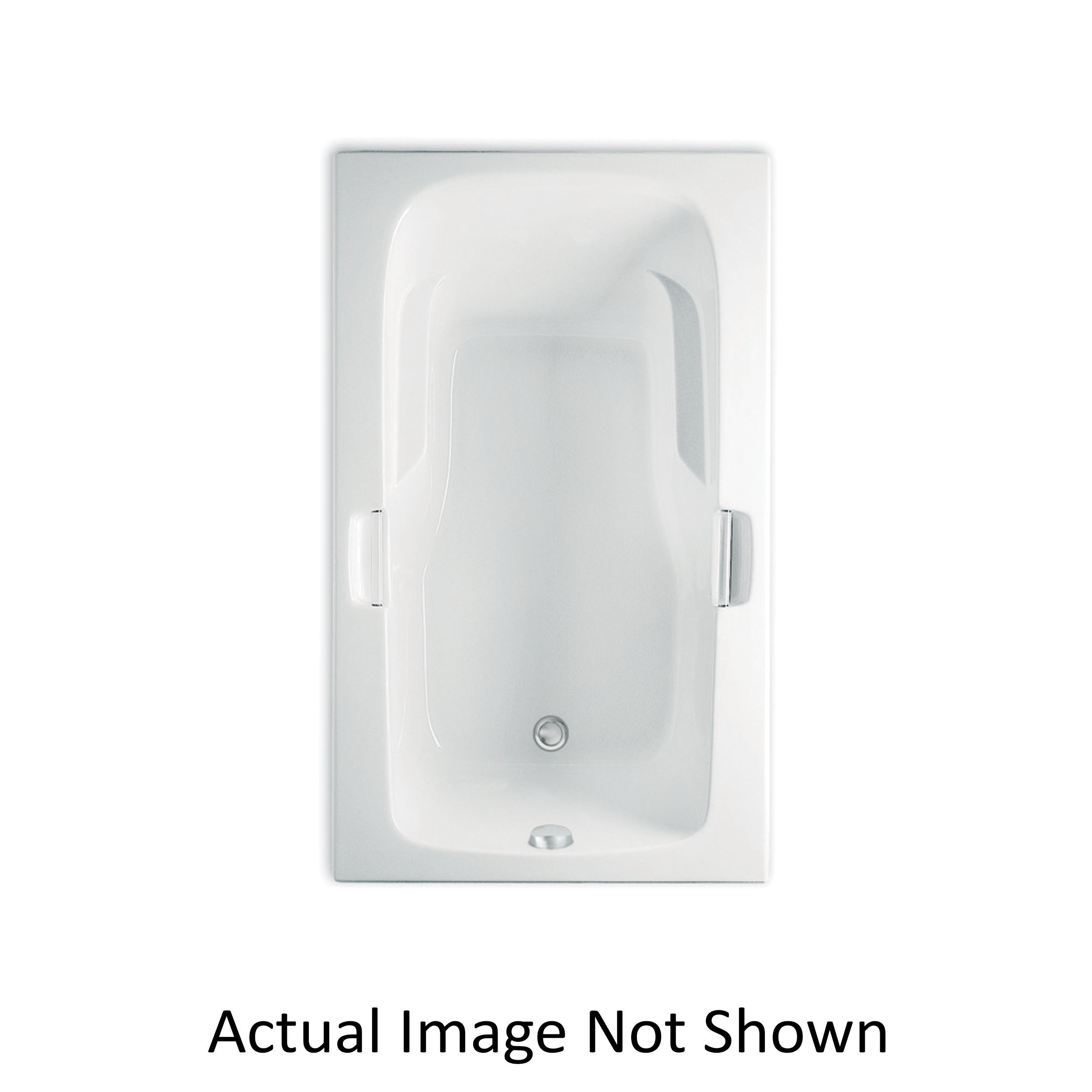 Aquatic Montrose I 4160620-WH Builders' Choice Soaker Bathtub Without Seat, Rectangle, 60 in L, 36 in W, Universal Drain