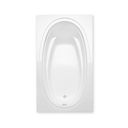 Aquatic 5660620V-WHT Alydar I Builders' Choice Bathtub, Soaking, 60 in W, Universal Drain, White