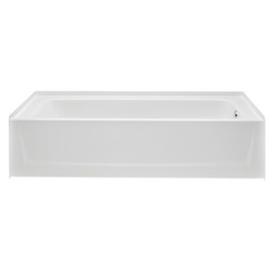 Aquatic 6030CT-RH-WHT Bathtub, Soaking, 60 in W, Right Hand Drain, White