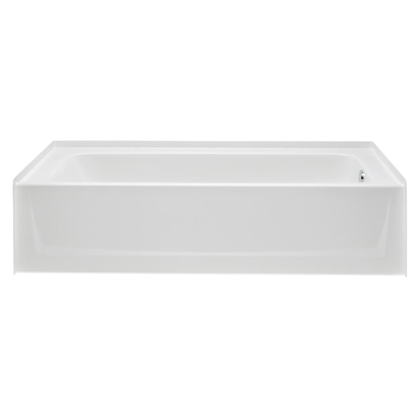 Aquatic 6030CT-LH-WHT Bathtub, Soaking, 60 in W, Left Hand Drain, White